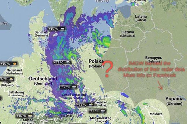 """Internauci oburzeni. IMGW przestało publikować dane radarowe. """"Opamiętajcie się"""". Radareu.cz bez danych z Polski."""