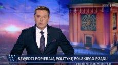 """""""Szwedzi popierają politykę polskiego rządu"""" - ogłosiły wczoraj """"Wiadomości"""" TVP"""