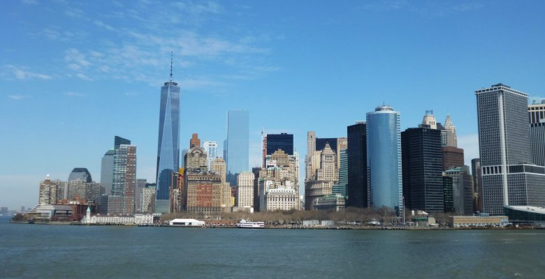 Manhattan z promu.