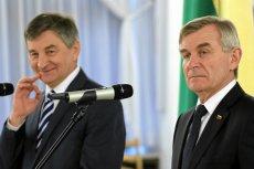Marek Kuchciński i przewodniczący Seimasu Republiki Litewskiej Victoras Pranckietis