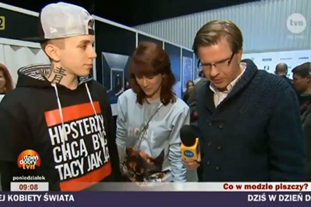 Stacja TVN nie pozwala Filipowi Chajzerowi na komentowanie prowokacji przeprowadzonej podczas Warsaw Fashion Weekend