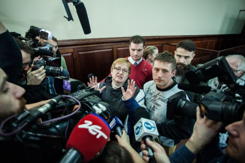 Rodzina Tomasza Komendy czekała na wyrok sądu we Wrocławiu.