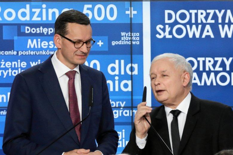 Prezes Kaczyński i premier Morawiecki chcą znowu zabiegać o umiarkowanych wyborców z miast
