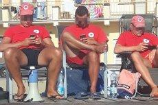 Ratownicy w Skorzęcinie nie byli specjalnie zainteresowani bezpieczeństwem kąpiących się.