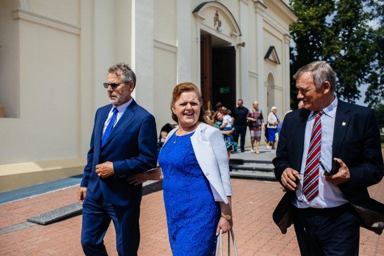 Renata Beger i Władysław Serafin byli jednymi z głównych gości 20. rocznicy blokad rolniczych, które świętowano w Borkach-Kosach.