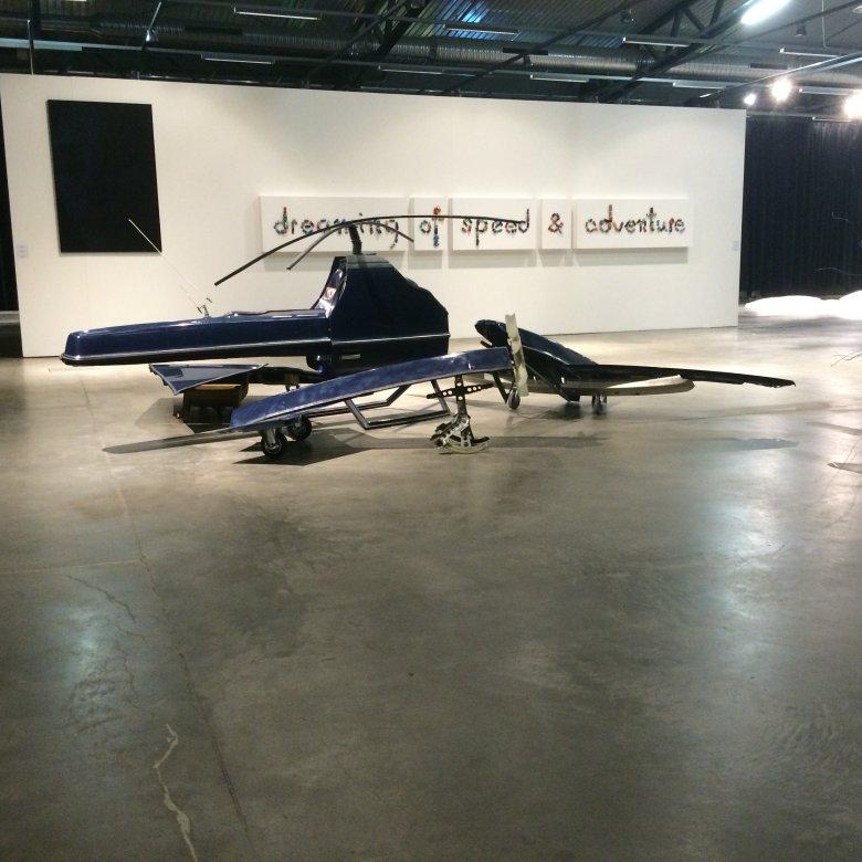 Volvo 240 Transformed Into 4 Drones, 2014, widok instalacji