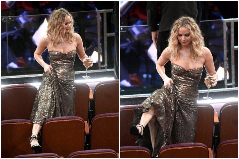 Jennifer Lawrence skradła oscarowe show