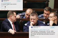 Szefostwo policji naprawę powinno zastanowić się nad tym, kogo delegowano do komunikacji z obywatelami na Twitterze... [Zdjęcie stanowi jedynie ilustrację do artykułu].
