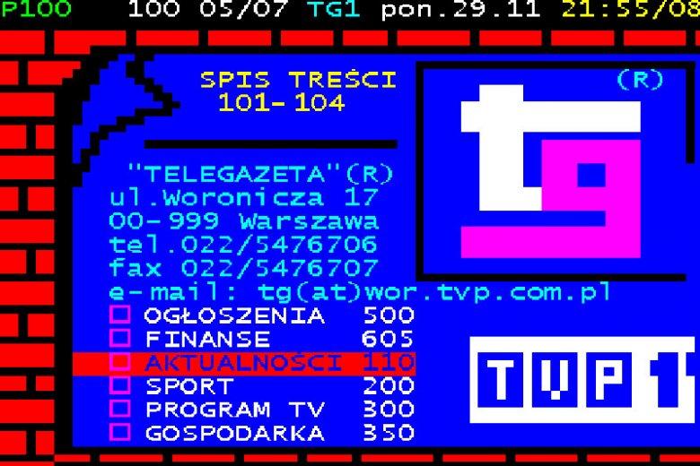 """""""Telegazeta"""", czyli internet lat 90-tych."""
