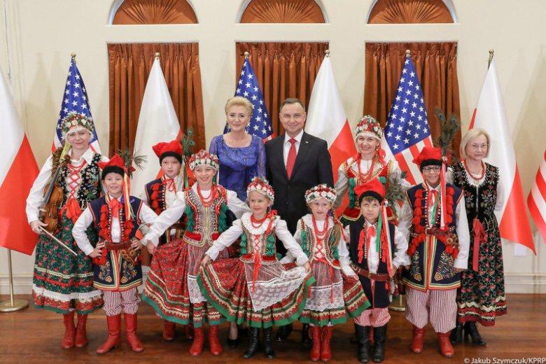 Prezydent Andrzej Duda podczas spotkania z Polakami w Houston.