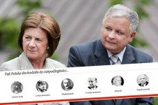 Lech Kaczyński ukazany jest jak ten, który doprowadził Polskę do niepodległości.