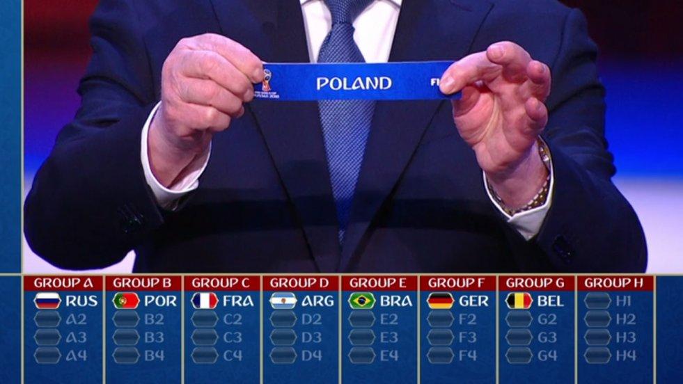 Z kim zagra Polska na mistrzostwach świata w piłce nożnej? W Moskwie rozlosowano grupy mundialu.