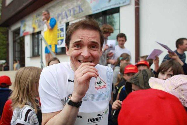 Przemysław Babiarz w swoim żywiole - jako biegacz.