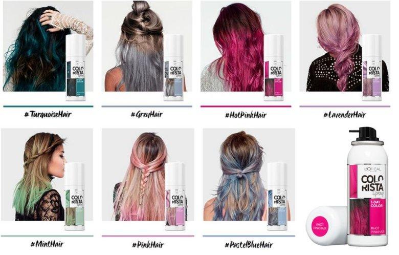 Spray L'Oreal Colorista dostępny jest w kilku kolorach. Ja wybrałam Hot Pink.