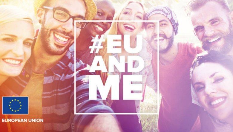 #EUandME to kampania Komisji Europejskiej, której celem jest zwiększenie świadomości młodych osób na temat pozytywnego wpływu Unii Europejskiej na ich codzienne życie.
