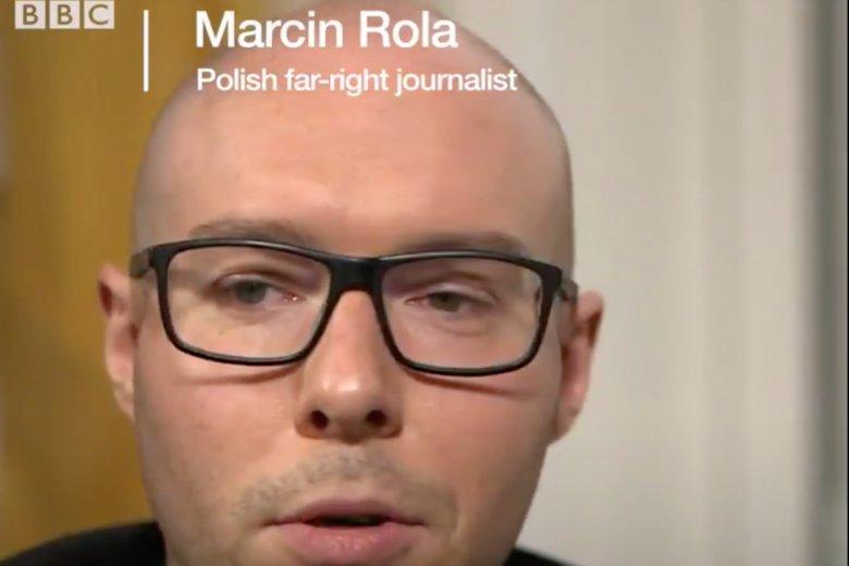 Marcin Rola mówił w rozmowie z dziennikarką BBC o swoich poglądach.