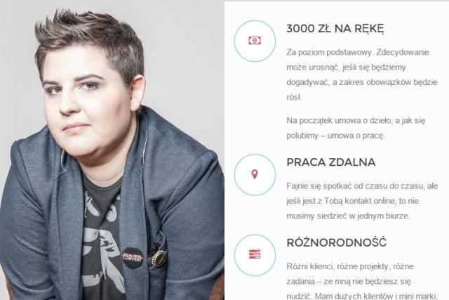 Monika Czaplicka - ogłoszenie o pracę