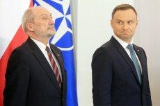 Zaognia się konflikt między szefem MON Antonim Macierewiczem a prezydentem Andrzejem Dudą.