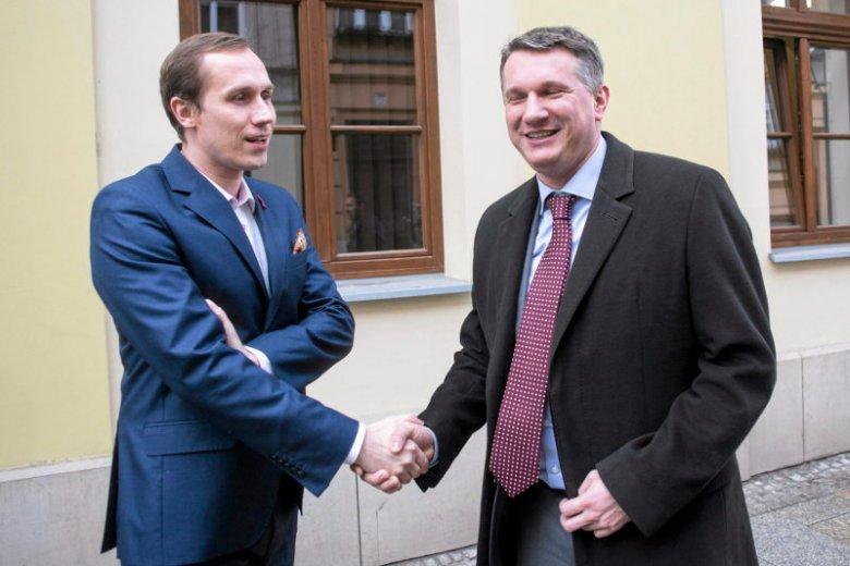 Berkowicz z Przemysławem Wiplerem.