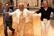 Senator Anna Maria Anders (po prawej) ćwiczy poloneza w Miami (USA).