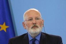 Frans Timmermans o praworządności w Polsce: Niektóre sprawy pogorszyły się.
