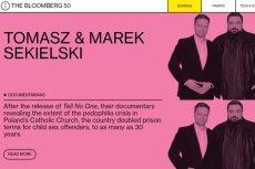 Bracia Tomasz i Marek Sekielscy znaleźli się w 50-tce Bloomberga w 2019 roku.