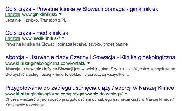 Masz pieniądze i chcesz przerwać niechcianą ciążę? Przygraniczną klinikę znajdziesz w mniej niż pół sekundy. Mają strony po polsku i oferują nawet transport.
