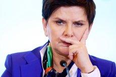 Premier Beata Szydło na konferencji w Brukseli