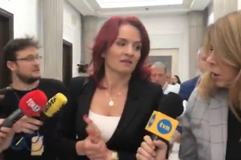Bernadeta Krynicka z PiS cieszy się, że nie będzie zasiadała w parlamencie z Klaudią Jachirą.
