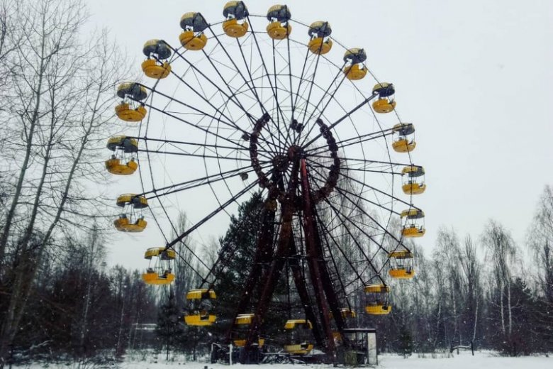 Diabelski Młyn to jedno z najchętniej fotografowanych w Czarnobylu miejsc