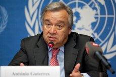 Antonio Guterres przestrzega przed możliwością utraty kontroli nad sytuacją w Syrii.