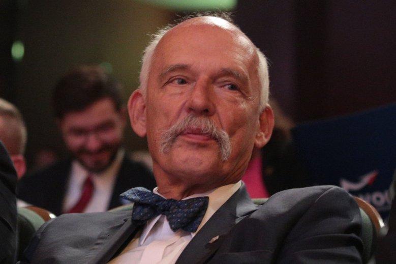 Janusz Korwin-Mikke znów zaskoczył kontrowersyjną wypowiedzią.