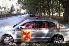 Taki widok zastał rankiem właściciel taksówki, Szymon Wrzesień. Uważa, że to zemsta konkurencji.