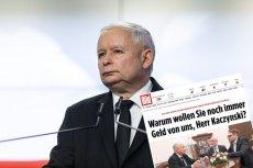 """Rosyjscy politycy krytykują Jarosława Kaczyńskiego za słowa w wywiadzie dla """"Bilda""""."""