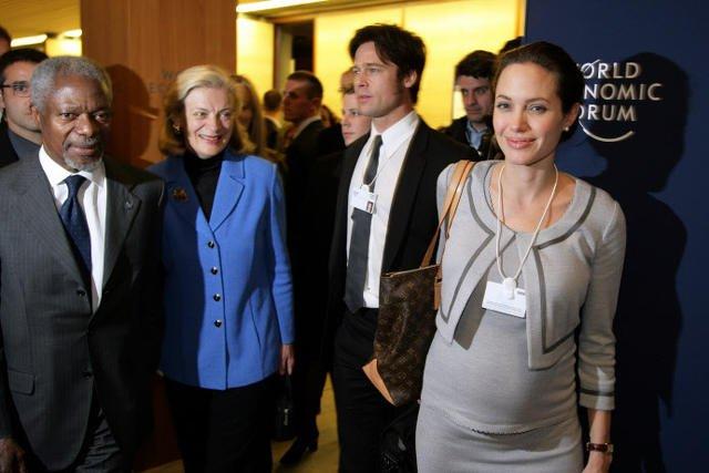 Takie tam z Angeliną, Bradem i Kofi Annanem (były sekretarz generalny ONZ)