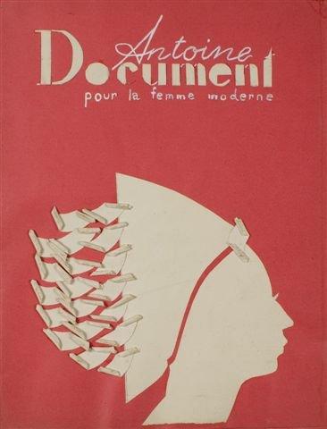 Projekt okładki pisma Antoine Document, 1932-37; gwasz, karton 34x26