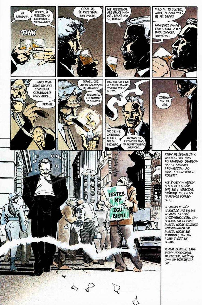 """kadr z komiksu """"Batman: Powrót Mrocznego Rycerza"""""""