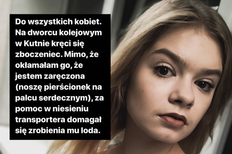 Julia Wróblewska przeżyła traumatyczne chwile na dworcu kolejowym w Kutnie