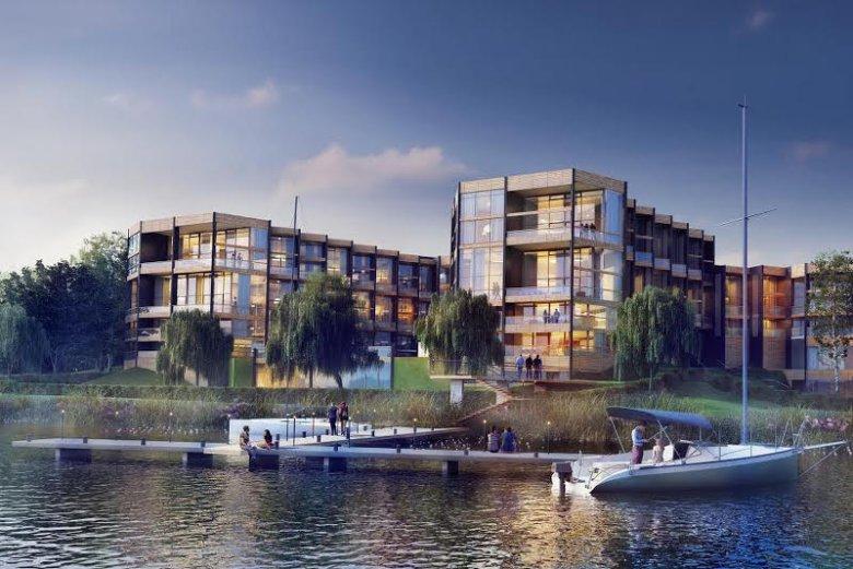 Wizualizacja apartamentowca Portico Marina