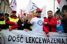 Związkowy protest na ulicach Warszawy. 18 kwietnia stolica po raz kolejny zostanie zablokowana.