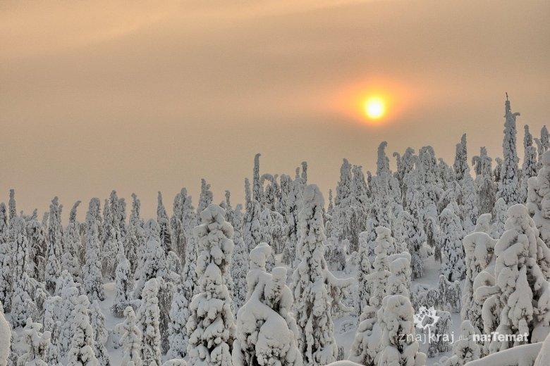 Częsty widok nieba nad okolicami Kuusamo
