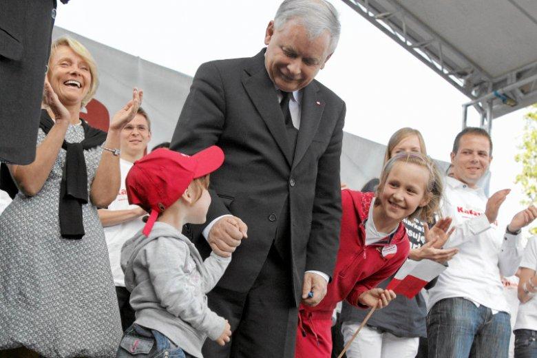Jarosław Kaczyński (PiS) z dziećmi