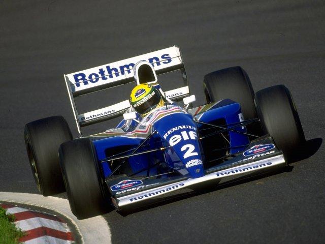 Ayrton Senna za kierownicą bolidu Williams-Renault