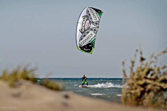 Jan Lisewski i jego kitesurfing.