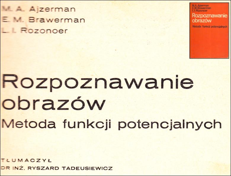 Pierwsza książka w języku polskim na temat rozpoznawania obrazów wydana przez WNT w 1976 roku