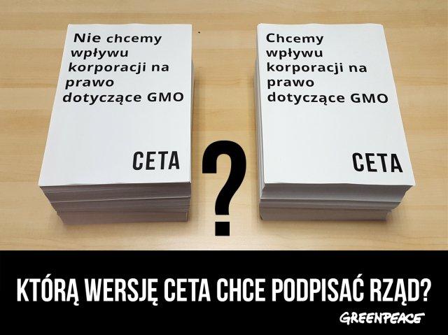 Którą wersję umowy CETA chce podpisać polski rząd?