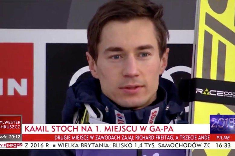Kamil Stoch musiał wysłuchać dziwnej wersji polskiego hymnu w Ga-Pa. Na szczęście, komentując tę sytuację, sam zachował klasę.