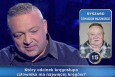 """W """"Milionerach"""" padło pytanie m.in. o największąćmę w Polsce - zmierzchnicę trupią główkę"""
