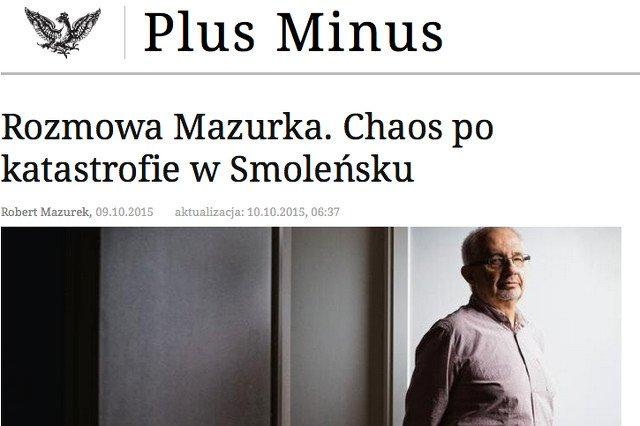 """Były wiceambasador  w Rosji o katastrofie smoleńskiej: """"Poziom chaosu i niepanowania nad sytuacją był przygnębiający"""""""