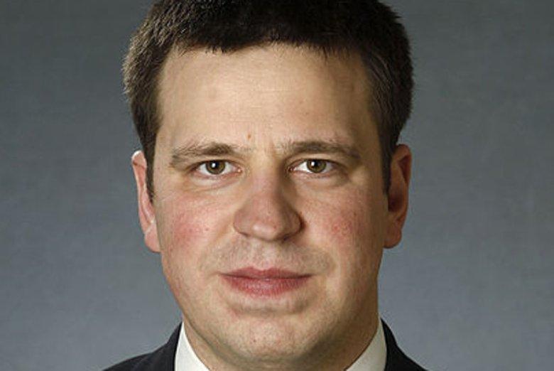 Jüri Ratas to przewodniczący Estońskiej Partii Centrum.